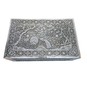 Antique Vietnamese Silver Box Vietnam Late 19th Century