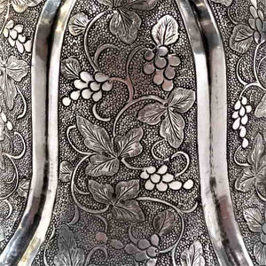 Antique Chinese Silver Spittoon - Thookadaan Peekdaan - China For Indian Market - Thookadaan Peekdaa - C1820
