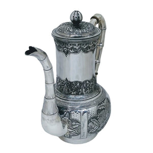 Antique Chinese Straits Silver Coffee Pot