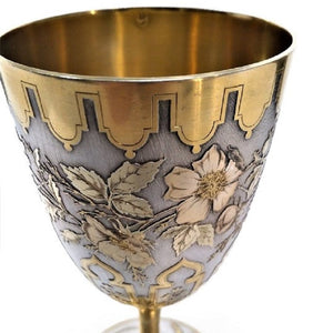Antique French Silver Gilt Goblet Tallois