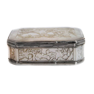 Antique Silver and Cantonese MOP Snuff Box Circa 1810