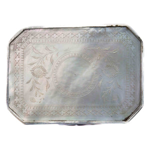 Antique Silver and MOP Snuff Box Depicting Napoleon China