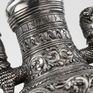 Antique Burmese Silver Cruet Set, An Unusual And Novel Design, Burma (myanmar) – Circa 1910