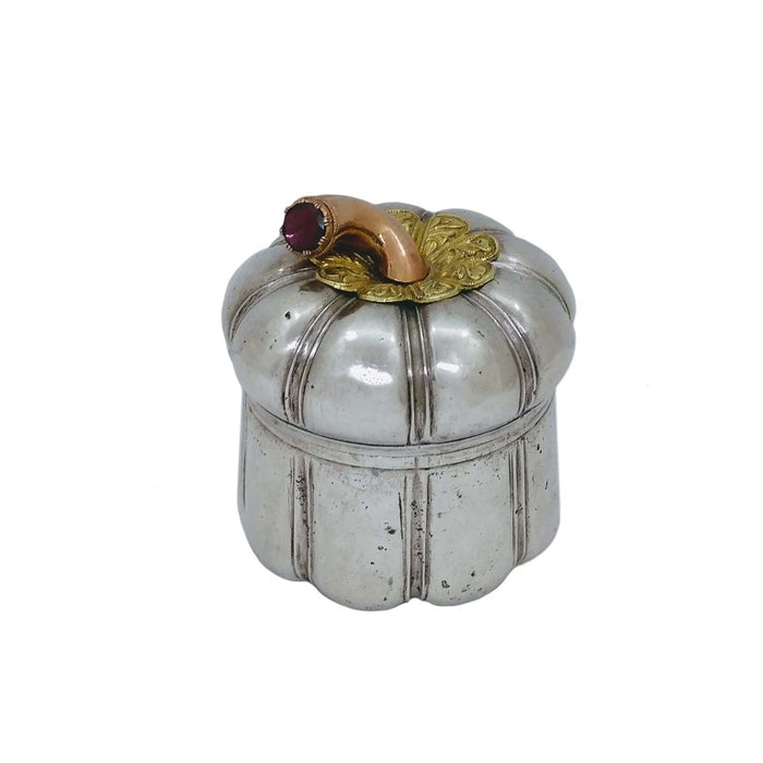 Antique Silver, Gold & Suasa Betel Container, Malaysia Or Indonesian Archipelago C.1900