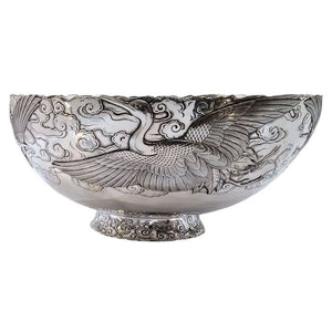 Fine Antique Silver And Gold Mixed Metal Bowl Japan Circa 1900