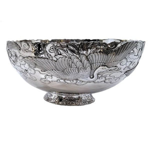 Fine Antique Silver And Gold Mixed Metal Bowl Japan Meiji Period Circa 1900