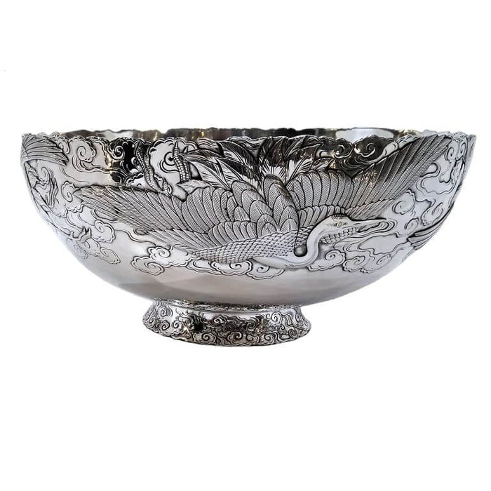 Fine Antique Silver & Gold Mixed Metal Bowl, Japan, Meiji Period – Circa 1900