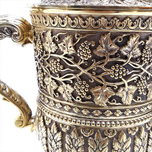 Hancocks and Co London Antique English Silver Gilt Cup And Cover