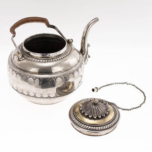 Indian Antique Silver Parcel Gilt Gold Tea Kettle India Early 18th Century
