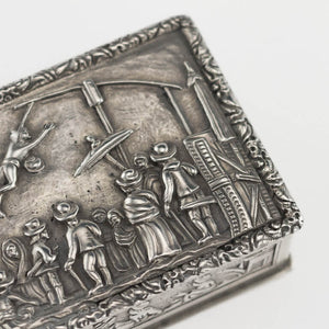 Indian Antique Silver Snuff Box Charak Puja hook Swinging Festival Calcutta Kolkata 1800-50