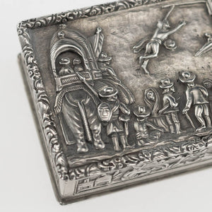 Indian Antique Silver Snuff Box Charak Puja hook Swinging Festival Kolkata 1800-50