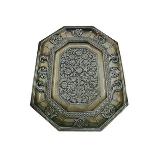Indian Antique Silver Tray Mughal India Circa 1740