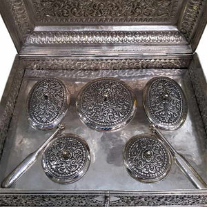Huge Antique Indian Silver Pandan Box, Complete With Original Fittings, Kutch (cutch), India – Circa 1900