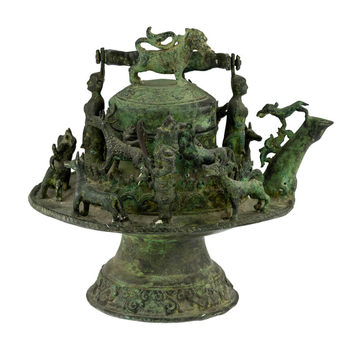 Antique Malay Bronze Kettle, Malaysia – 19th Century