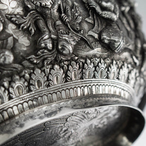 Repeating Borders to Burmese Silver Dishes