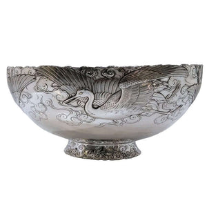 Silver Antique And Gold Mixed Metal Bowl Japan Meiji Circa 1900