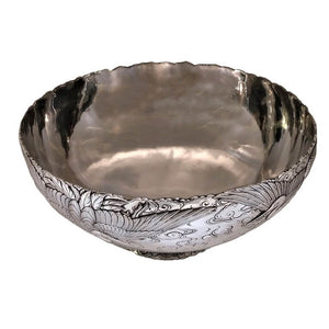 Silver Antique And Gold Mixed Metal Bowl Japan