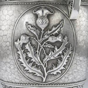 Antique Chinese Silver Vase, Monumental Size, Wang Hing, Canton - 1885