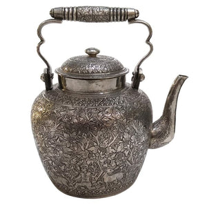 Antique South East Asian Silver Tea Kettle, Kingdom Of Luang Pabang, (laos) – 1900/1910