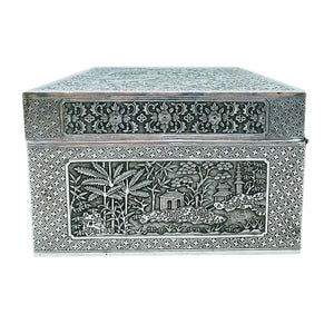 Vietnamese Antique Silver Box Vietnam Late 19th Century