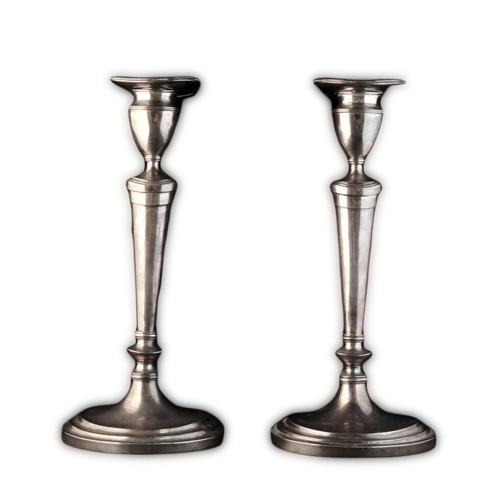 Antique Chinese Export Silver Candlesticks, Rare Set Of Four With Removable Sconces, Tientsin, China – Circa 1900