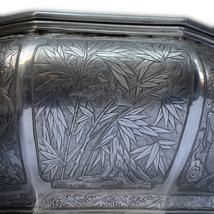 Antique Chinese Silver Octagonal Betel Box, Chinese Straits – Late 19th Century