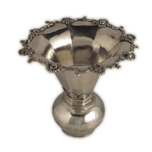 Antique Batavian/dutch Colonial Silver Spittoon (cuspidor, Kwispedoor), Batavia – Early 18th Century