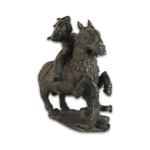 Antique Indian Bronze Statue Horse And Rider, India – 17th Century