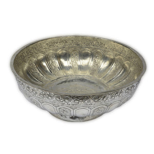 Antique Malay Silver Bowl, Malaysia – Late 19th Century