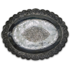 Antique Malay Silver Tray, Malaysia – Late 19th Century