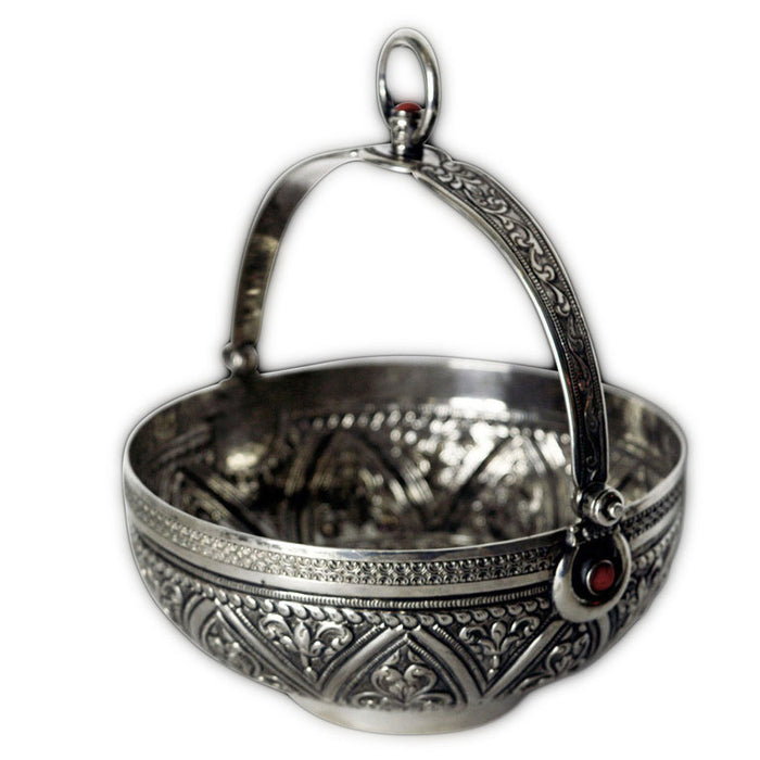 Antique Algerian Silver Hammam (hamam) Bowl, Algeria – 19th Century