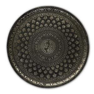 Antique Indian Bidri Ware Tray, Mughal India – Late 17th Century