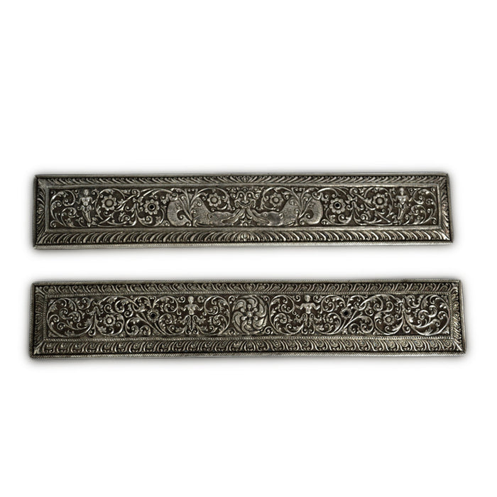 Antique Sri Lankan Silver Palm Leaf Book Covers, A Pair, Sri Lanka (ceylon) – Mid 19th Century