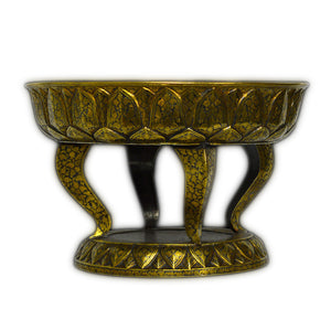 Antique Thai Silver-gilt Niello Washing Bowl, Thailand (siam) – 19th Century