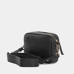 Carla Nappa Black Shoulder Bag