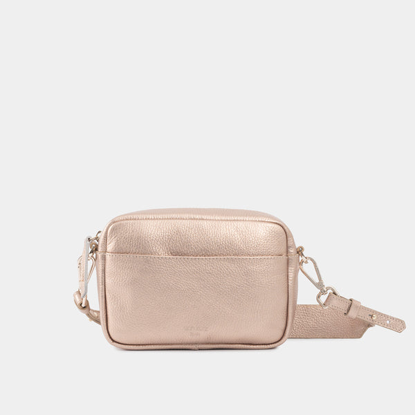 Carla Metallic Rose Shoulder Bag