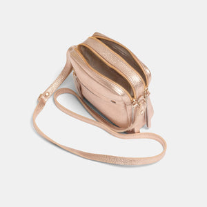 Cubo Mini Metallic Rosè Shoulder Bag