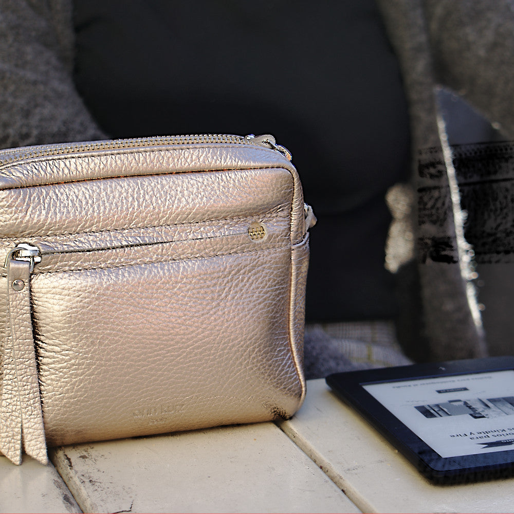 Cubo Mini Bag Metallic Rosè - ann kurz