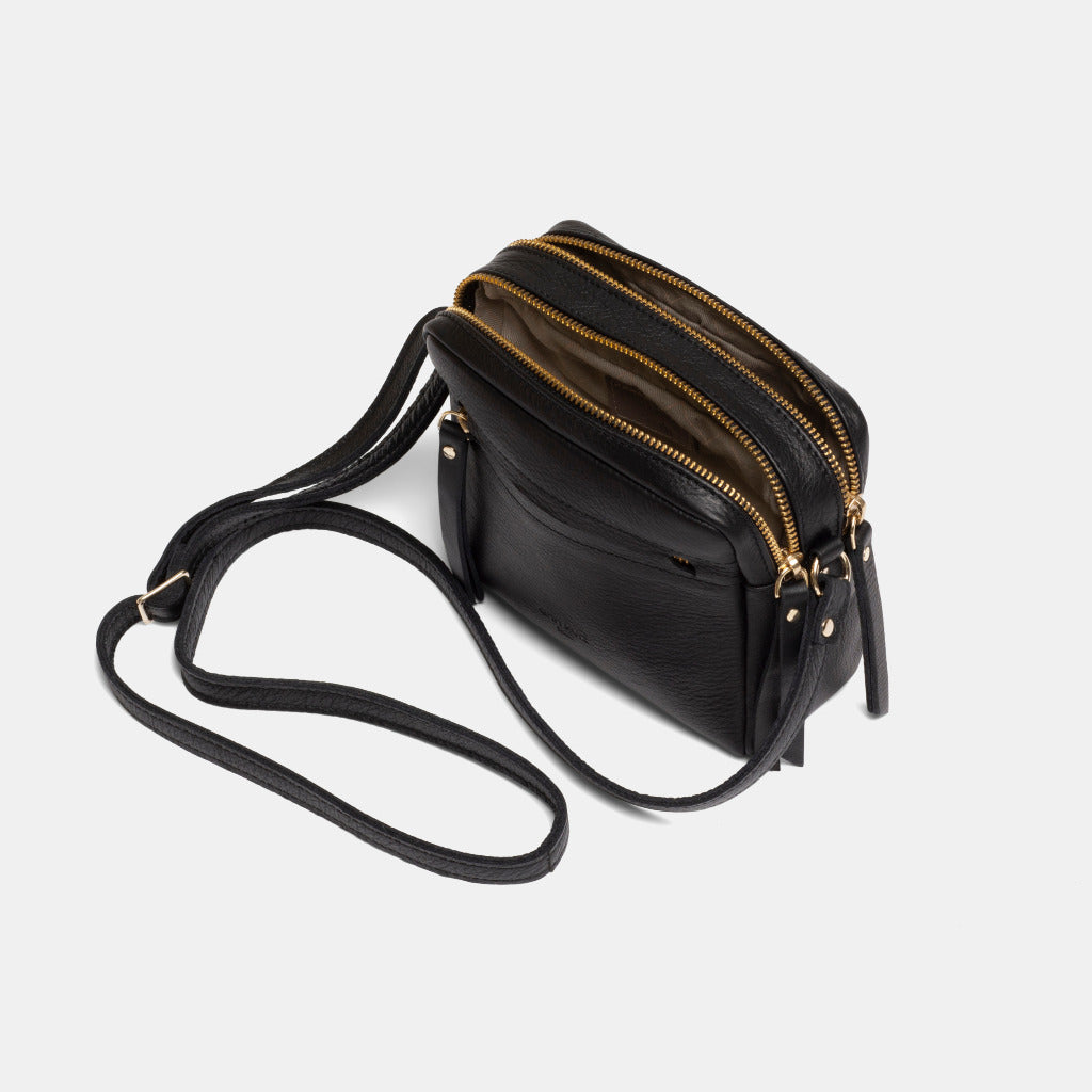 Cubo Mini Bag Nappa Black - ann kurz
