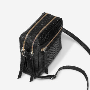 Cubo Mini Bag Snake Black - ann kurz