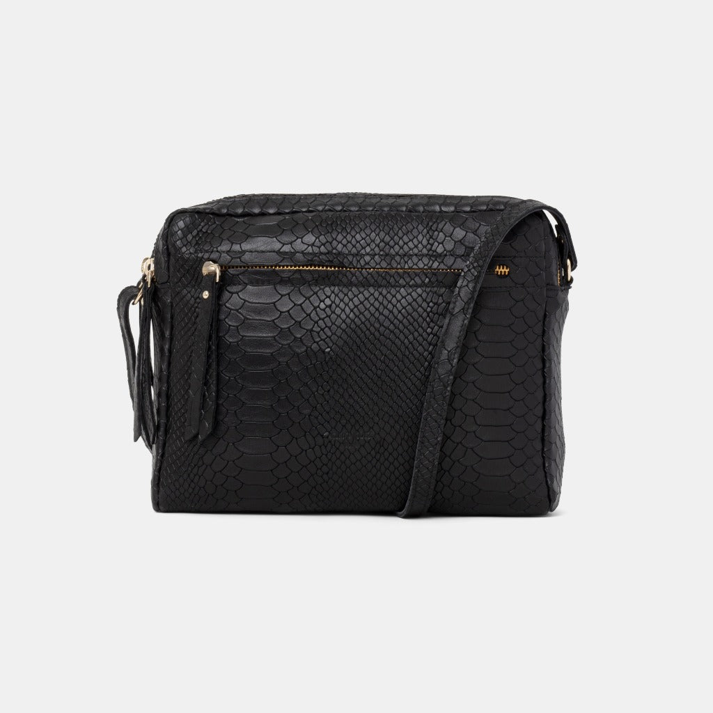 Cubo Snake Black Shoulder Bag - ann kurz