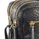 Load image into Gallery viewer, Cubo Snake Black Shoulder Bag - ann kurz