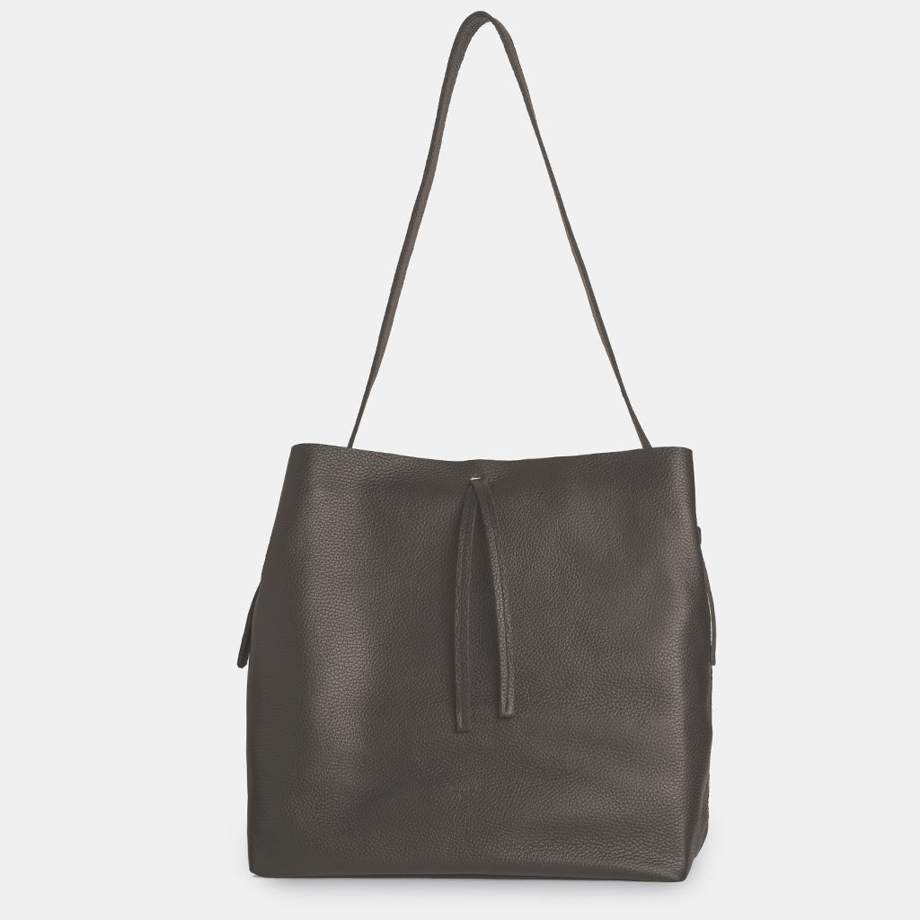 Hanna Grained Grey Shopper Bag - ann kurz