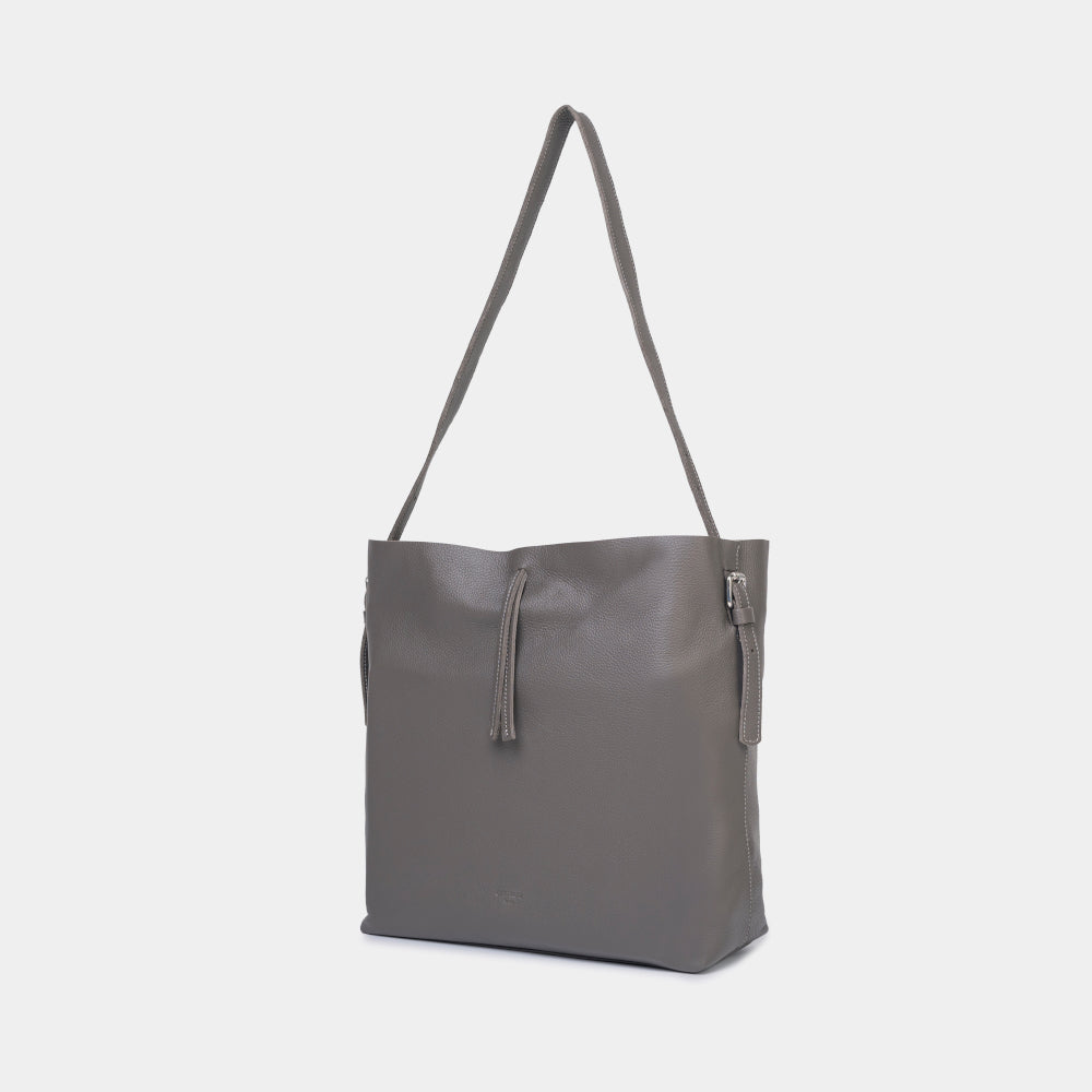 Hanna Grained Grey Shopper Bag