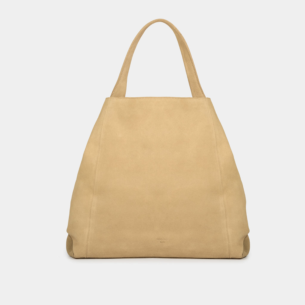 Mara Suede Ecru Hobo Bag