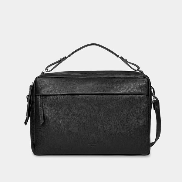 Marie Grained Black Laptop Bag