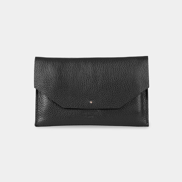 Mia Envelope Grained Black Phone Purse