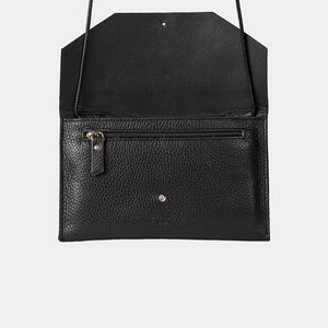 Envelope Snake Black Purse