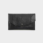 Load image into Gallery viewer, Envelope Snake Black Purse
