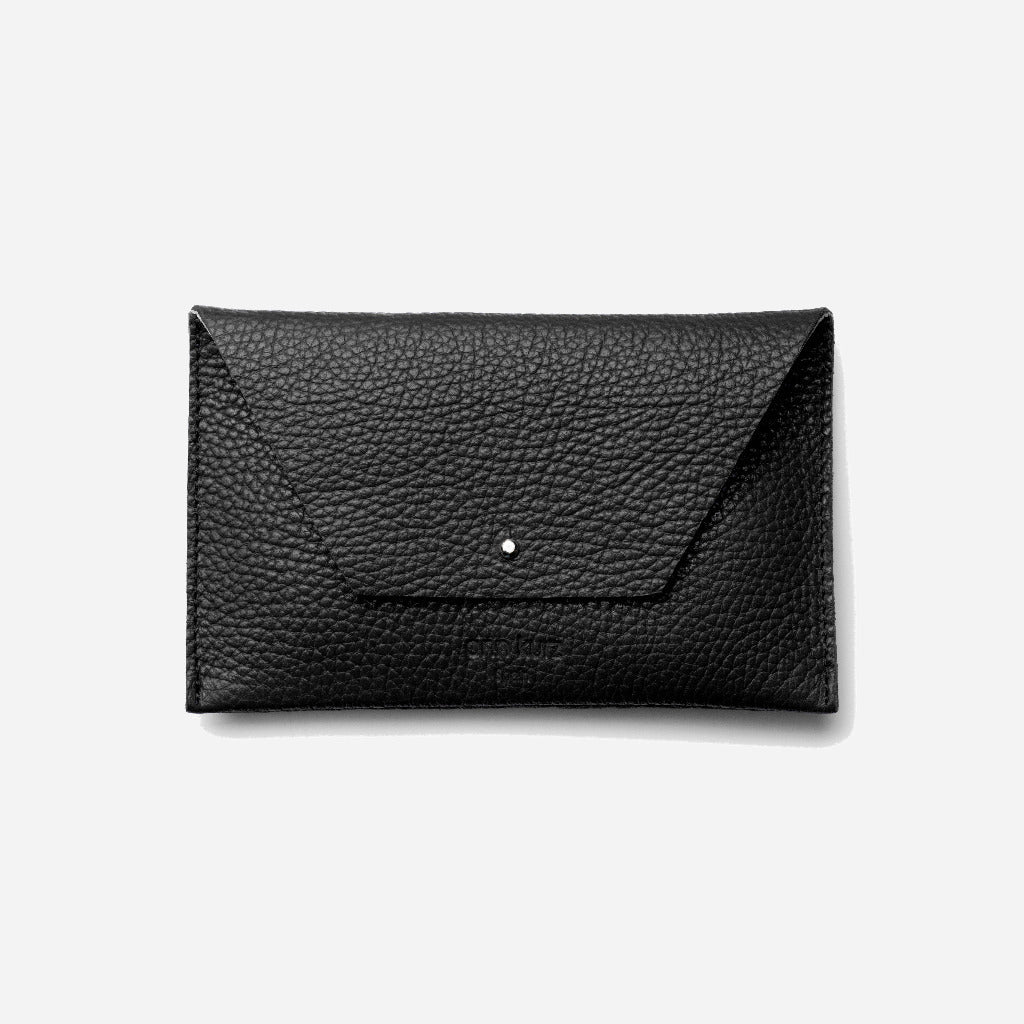 Mia Grained Black Wallet - ann kurz